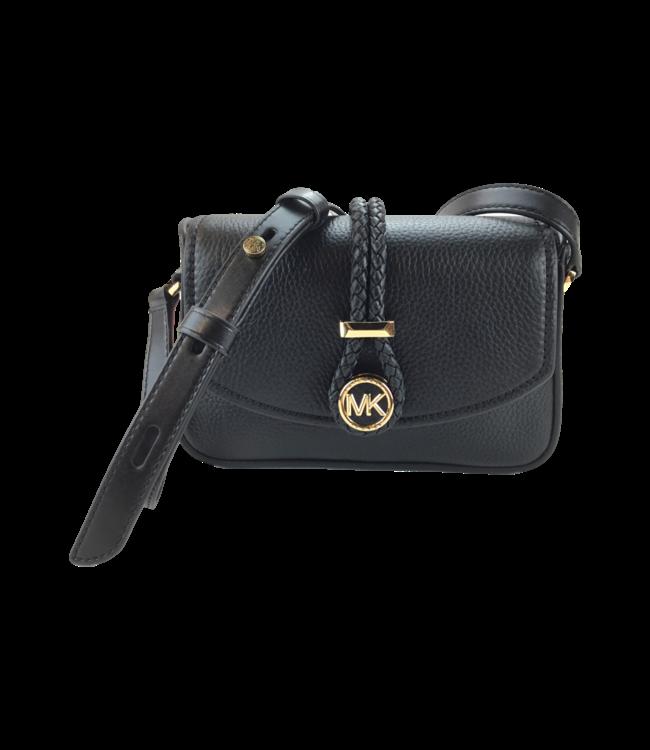 Michael Kors Small Flap Crossbody Leather Bag Black
