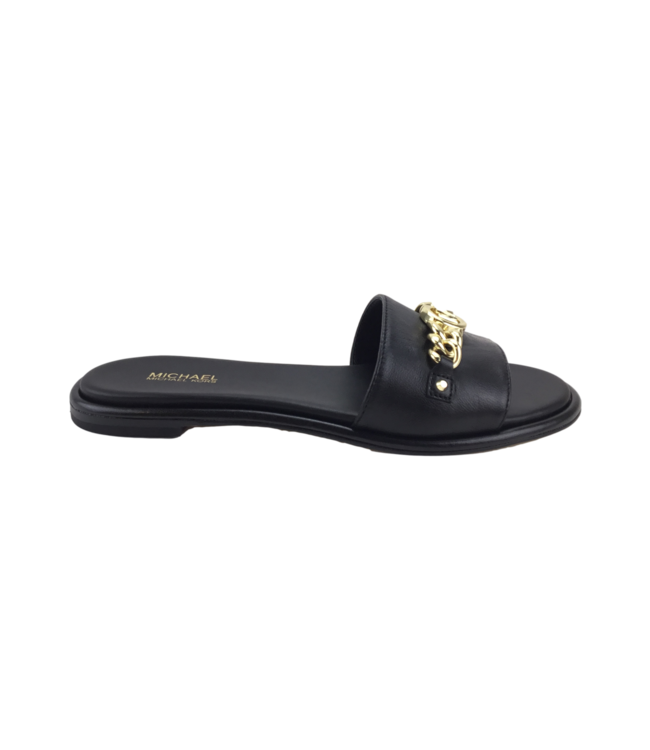 Michael Kors Rina Slide Nappa Leather Black