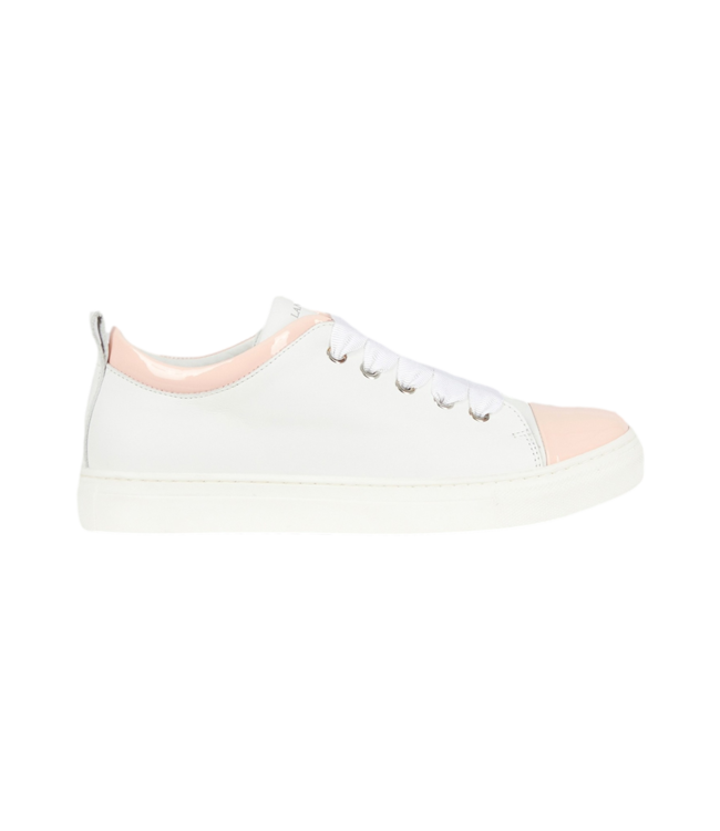 Lanvin Patent Leather Sneaker White Pink