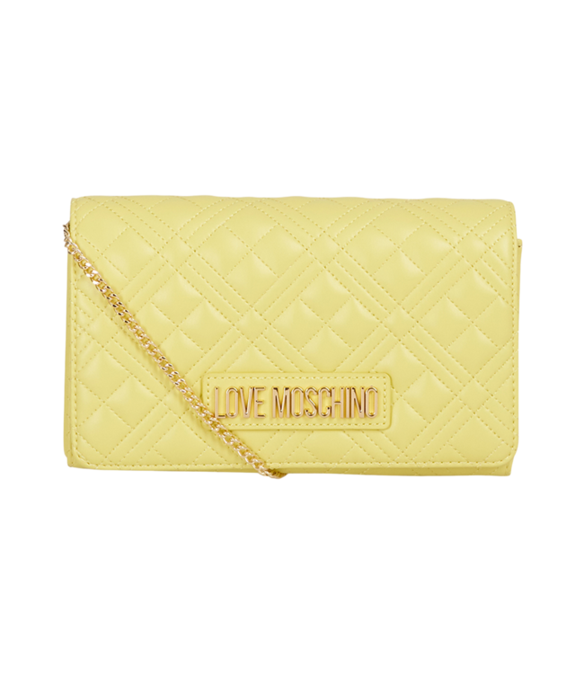 Love Moschino Bag Quilted Soft  Pu Yellow