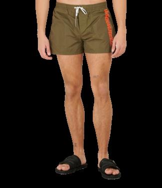 Dsquared2 Swim Short Logo Military Green Orange