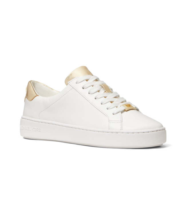 Michael Kors Irving Lace Up Leather White Gold