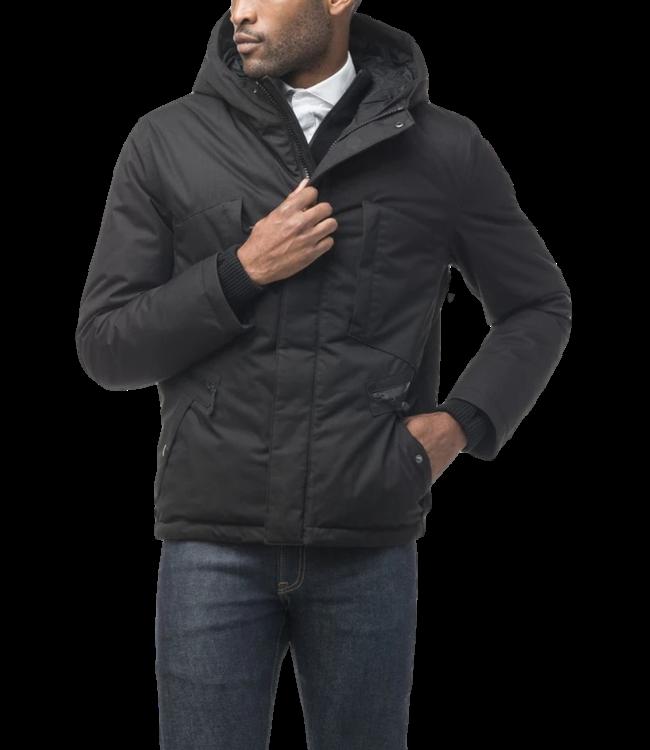Nobis Holt Men's Hooded Hip Length Jacket Black