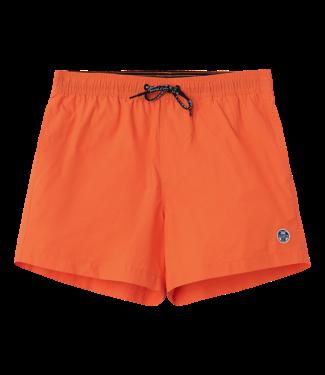 North Sails Shorts Volley Logo Orange Fluo