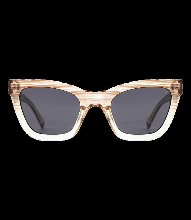 A. Kjaerbede Sunglasses Big Kanye Demi Gray Crystal Transparent
