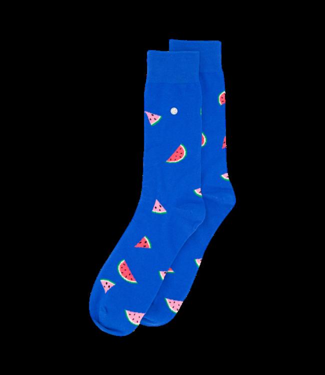 Alfredo Gonzales Socks Melons Blue Pink