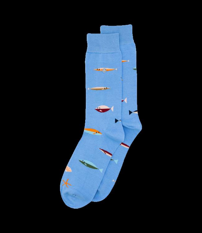 Alfredo Gonzales Socks Fish Light Blue