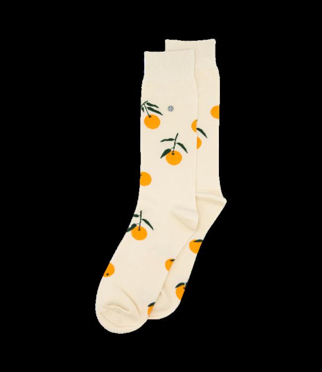 Alfredo Gonzales Socks Tangerine Off White Orange