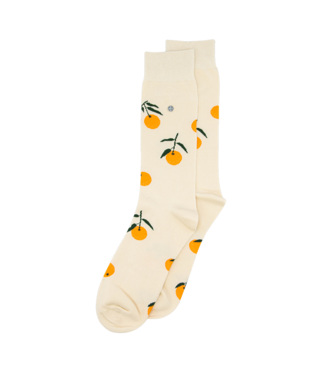 Alfredo Gonzales Sokken Tangerine Off White Orange