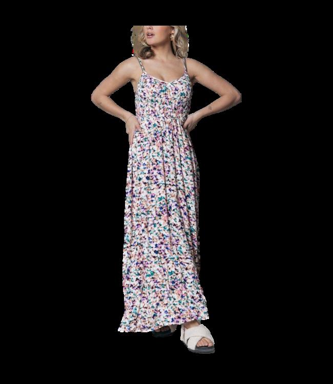 Colourful Rebel Maxi Dress Sophia Aquarel Smock Multicolor