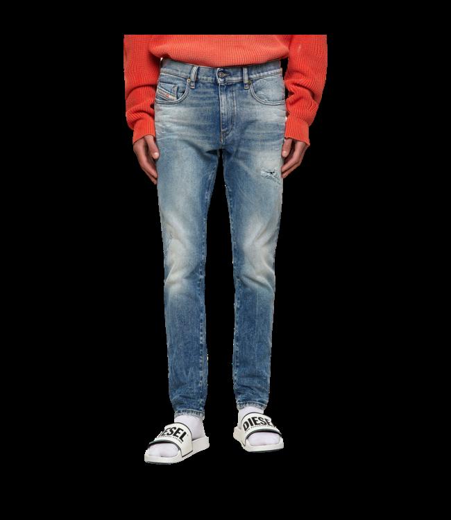 Diesel Jeans D-Strukt Slim Damaged Blue