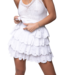 Colourful Rebel Nuna Broderie Anglaise Layer Mini Skirt Offwhite