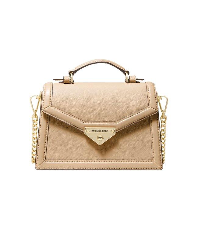 Michael Kors Grace Small Saffiano Leather Crossbody Bag Camel