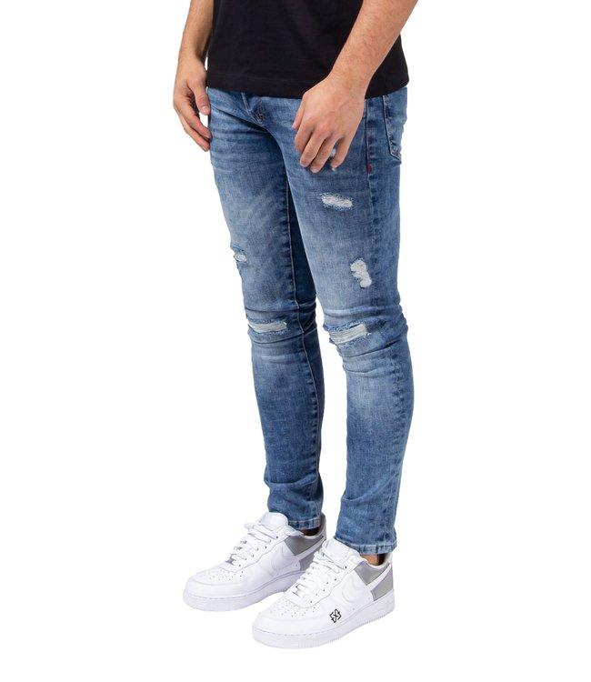 XPLCT Studios Destroyed Jeans Light Blue