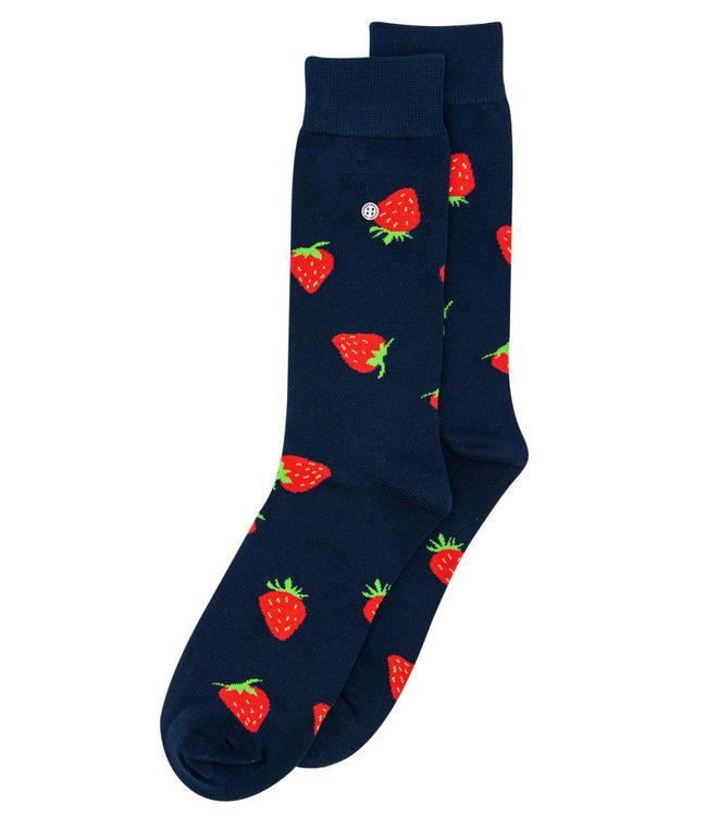 Alfredo Gonzales Socks Strawberries Navy/Red