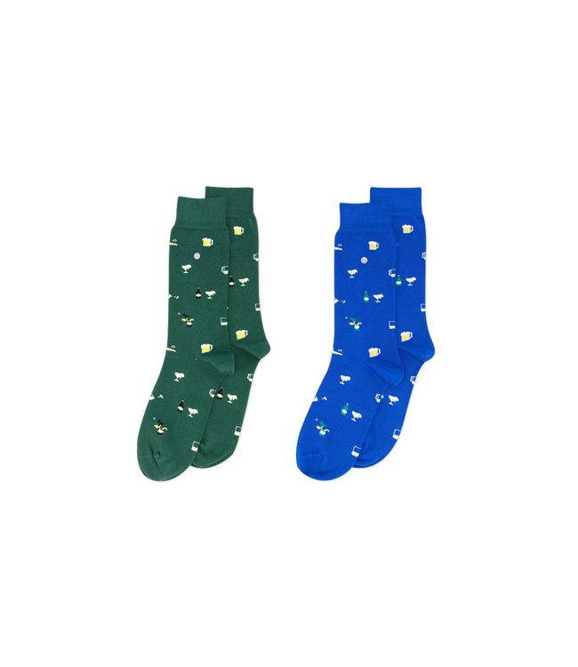 Alfredo Gonzales Socks Bear 2-Pack Blue/Green