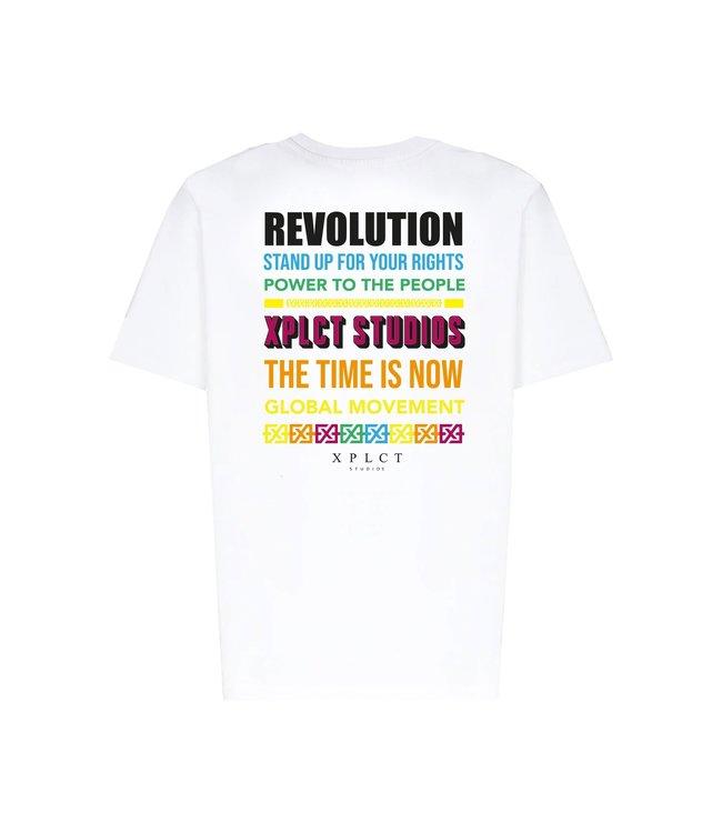 XPLCT Studios Revolution T-Shirt Off White