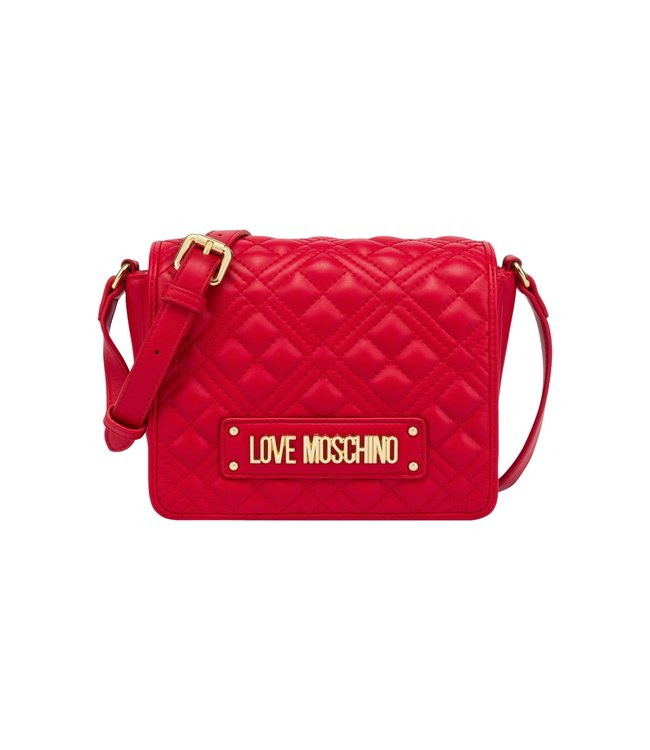Love Moschino Crossbody Bag Quilted Rosso