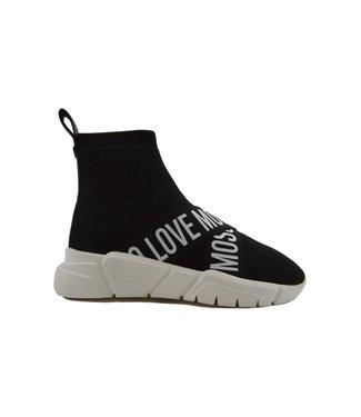 Love Moschino Sneakers Running Sock Black