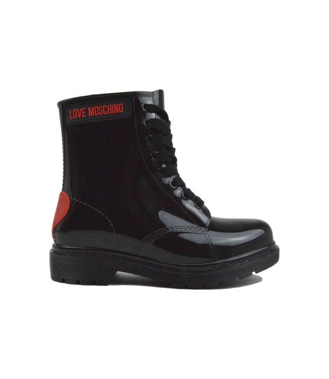 Love Moschino Rain Boots Heart Black
