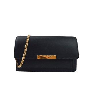 Michael Kors Jade Wallet On Chain Xbody Gold Black