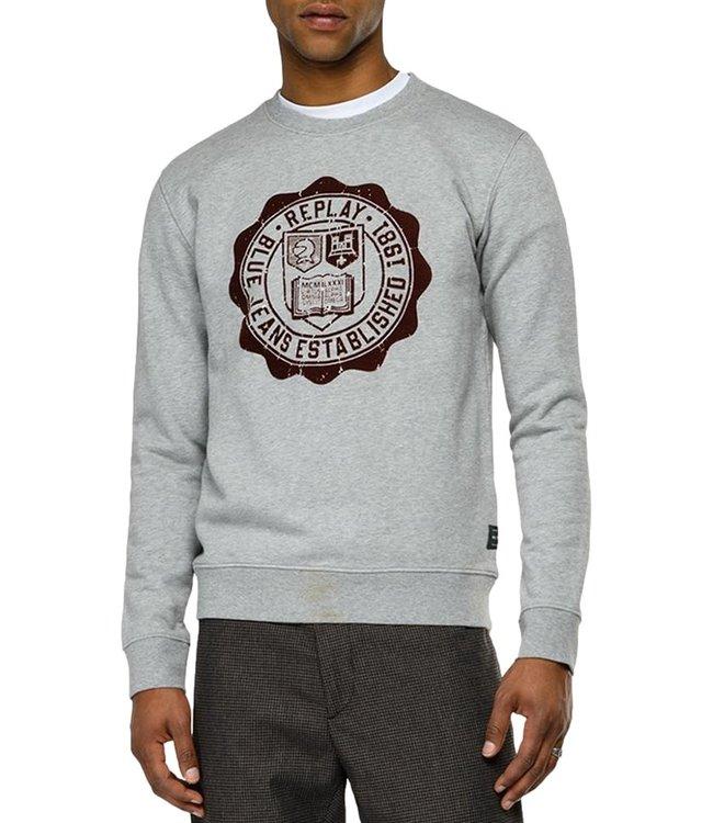 Replay Sweater Grey Melee