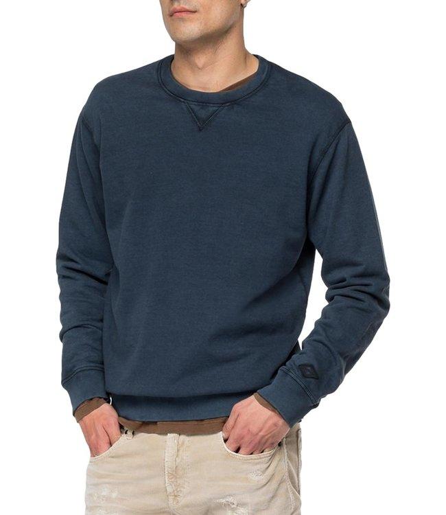 Replay Sweatshirt Organic Cotton Navy Blue