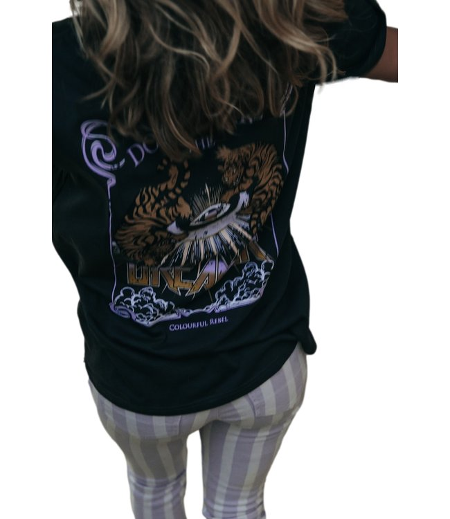 Colorful Rebel Dream Tiger Loose Fit Tee Anthracite