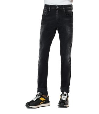 Replay Anbass Hyperflex Re-Used Slim Fit Jeans White Shades  Black
