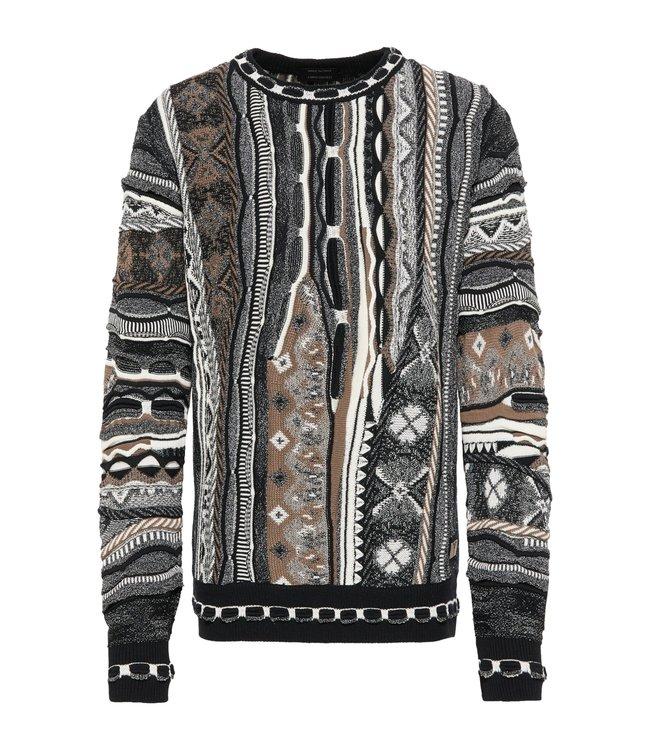 Carlo Colucci Knitwear Multicolour  Black Grey