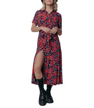 Colourful Rebel Dalia Roses Maxi Dress Bright Red