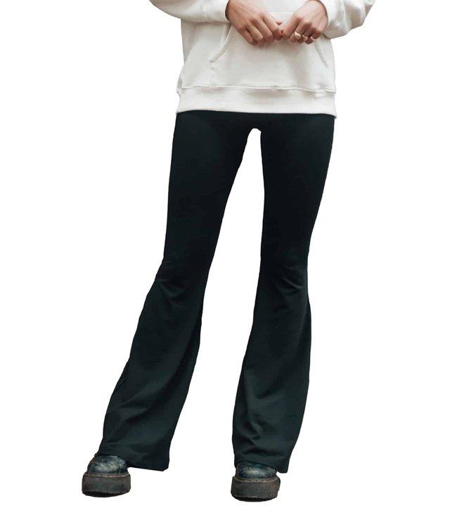 Colourful Rebel Basic Flare Pants Black