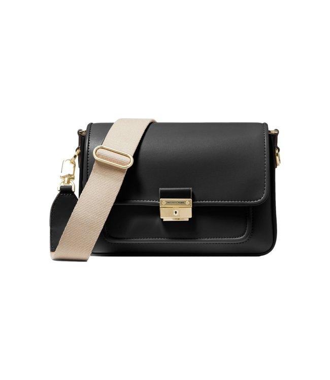 Michael Kors Bradshaw Medium Leather Messenger Bag Black