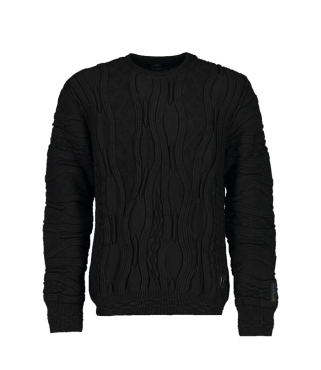 Carlo Colucci Knitwear Organic Cotton Black