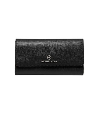 Michael Kors Large Trifold Leather Wallet Black