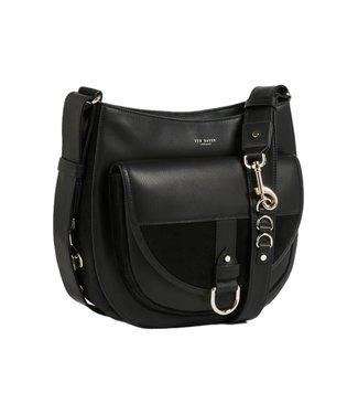 Ted Baker Equa Sleek Equestrian Hobo Bag Black