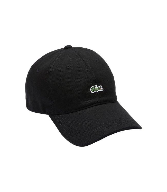 Lacoste Front Logo Cotton Cap Black