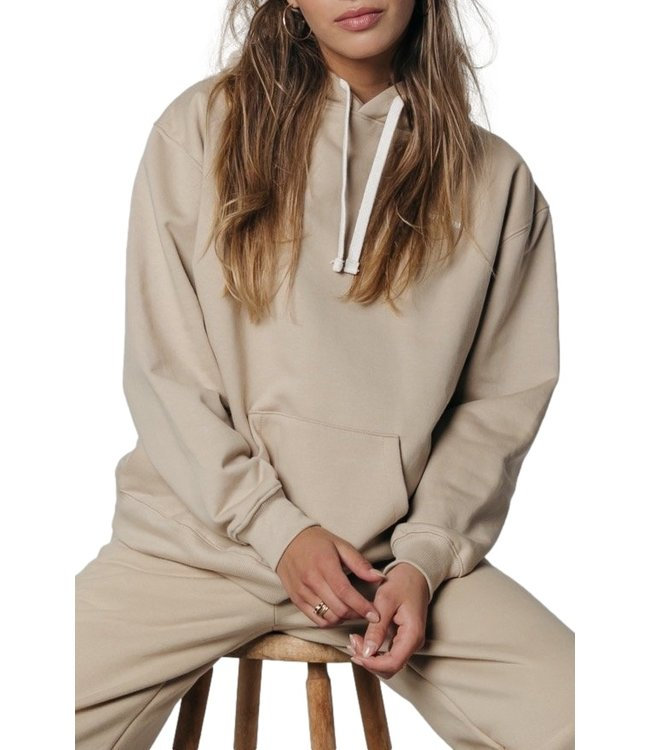 Colourful Rebel Oversized Hoodie Sand