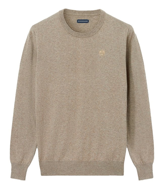 North Sails North Sails Cotton And Wool Jumper Fossil Melange Brown