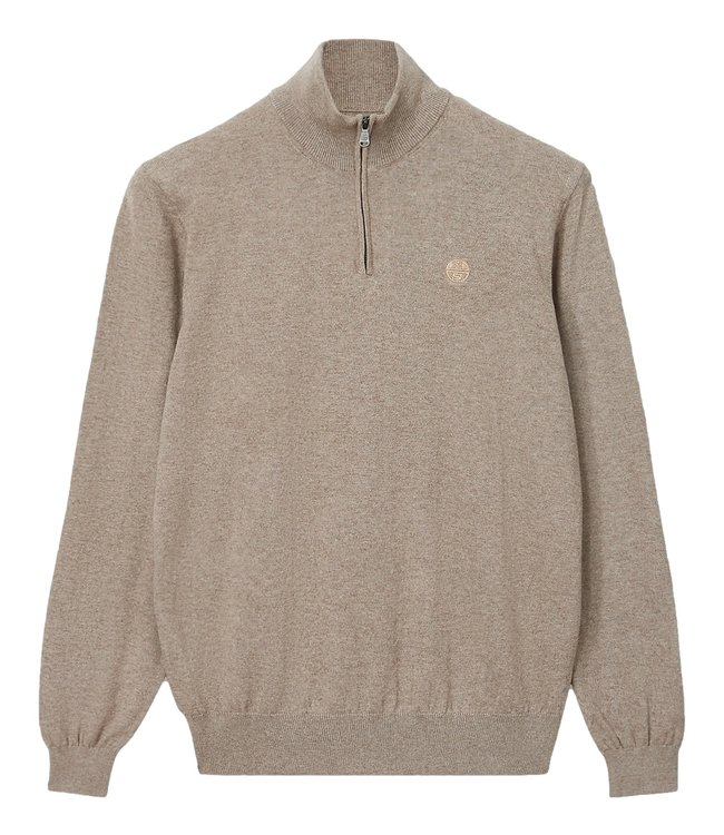 North Sails Cotton And Wool Jumper Fossil Melange Brown