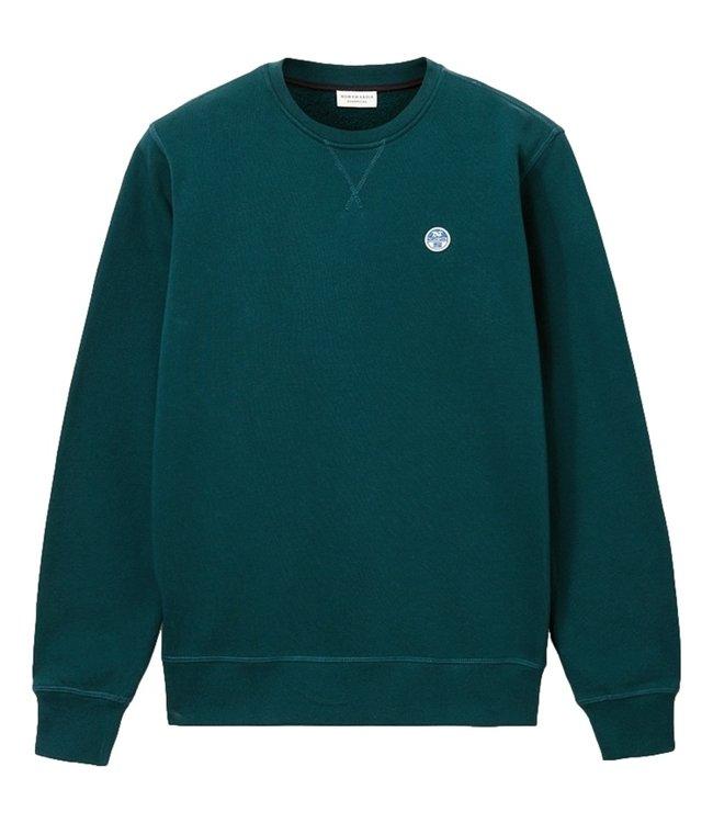North Sails Organic Fleece Sweatshirt Ponderosa Pine Green