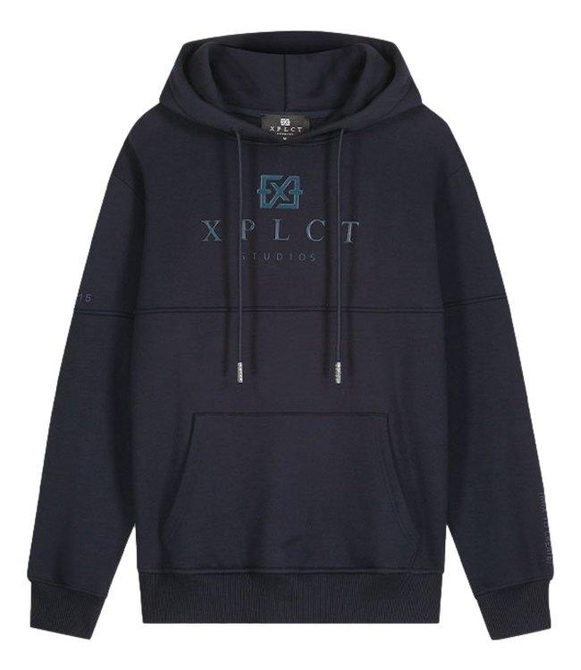 XPLCT Studios Brand Hoodie Navy Blue