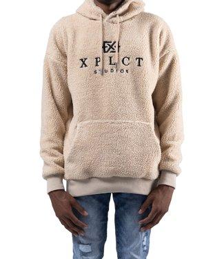 XPLCT Studios Teddy Hoodie Beige