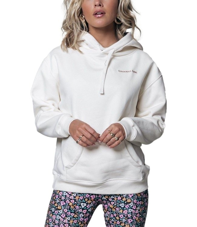 Colorful Rebel Desert Muse Oversized Hoodie Off White