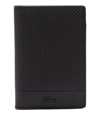 Lacoste Chantaco Wallet Verticaal Piqué Leather Black