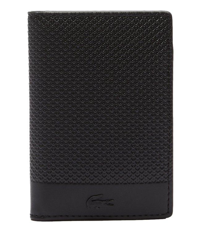 Lacoste Chantaco Wallet Vertical Piqué Leather Black