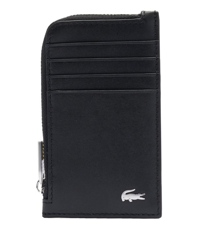 Lacoste Fitzgerald Zip Credit Card Holder Leather Black