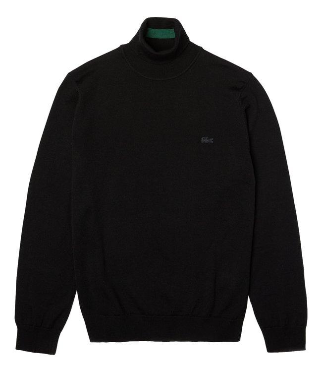 Lacoste Turtleneck Knitwear Classic Fit Black