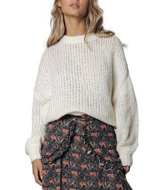 Colourful Rebel Olivia Crew Neck Sweater Off White