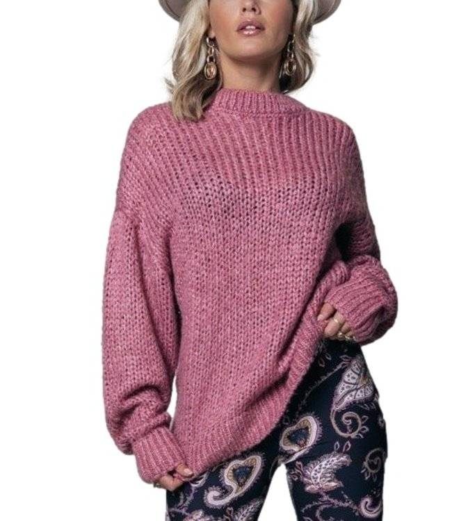 Colorful Rebel Olivia Crew Neck Sweater Old Lilac
